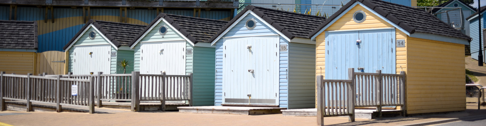 Beach Huts at the Bournemouth Beach