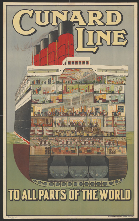 Cunard Line – to all parts of the world, poster, Ulrich Gutersohn.