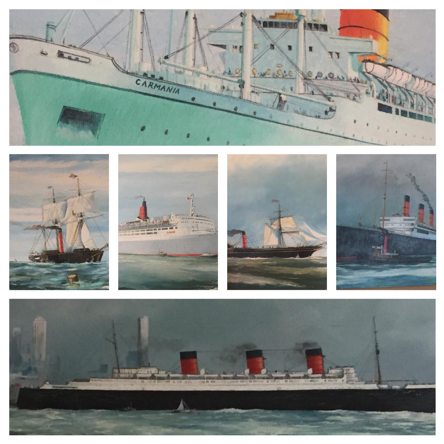 P Whittock Ocean Liners